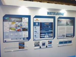 HOLISHIP Description at Waterborne booth, TRA2018 Conference, Vienna, Austria